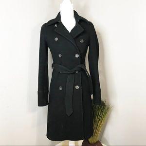 J. Crew wool mid length coat sz 0